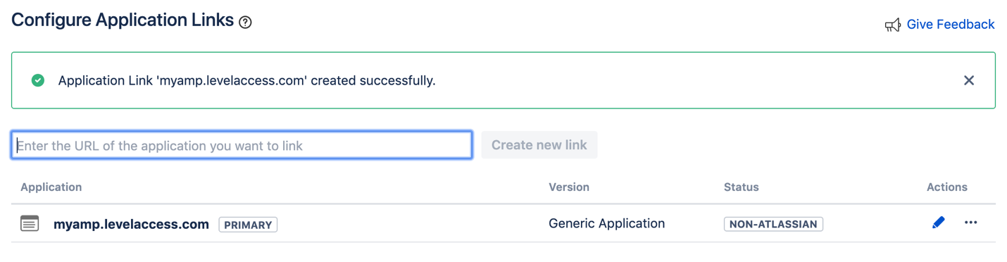 Jira Configure Application Link COnfirmation Screenshot